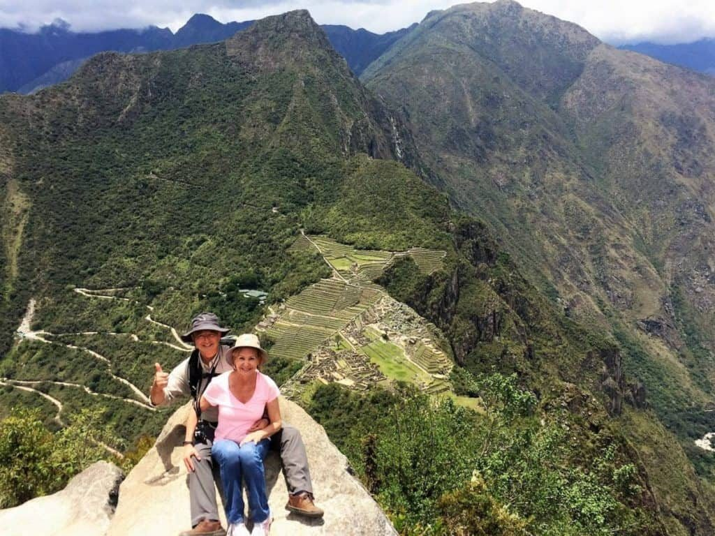 Keith and Tina Paul at Huayna Picchu