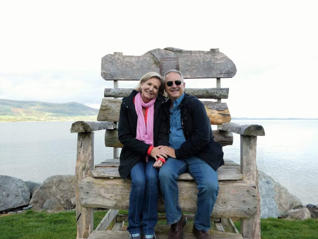 Keith and Tina Paul in Ireland