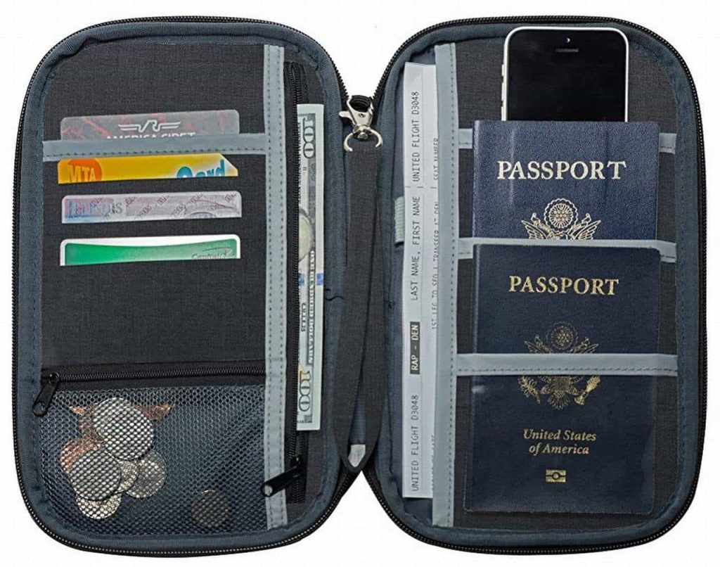 holiday gift passport wallet
