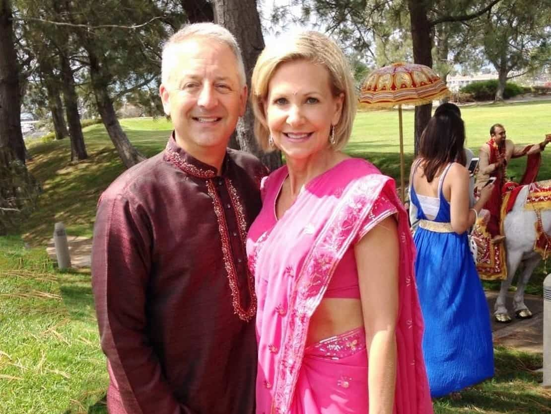Keith and Tina Paul at an Indian Wedding