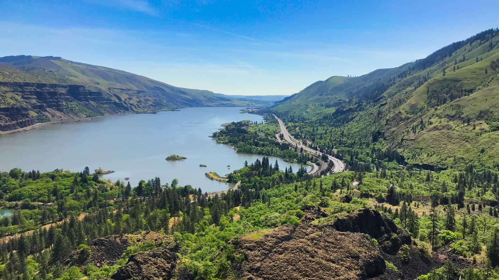 Columbia Gorge Wine overlook