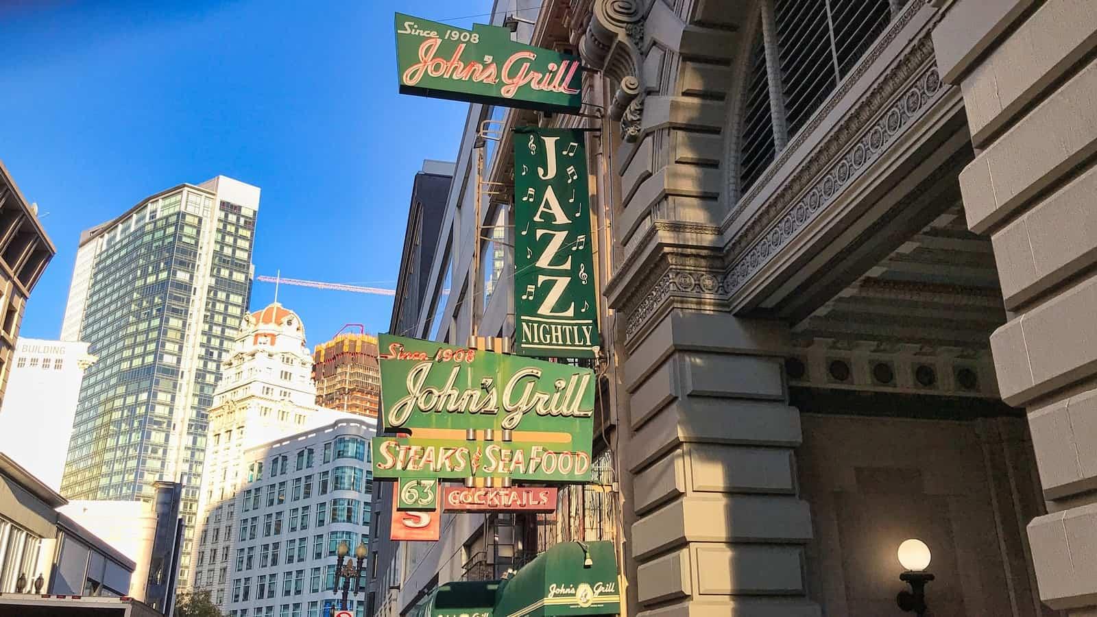 San Francisco Itinerary Johns Grill