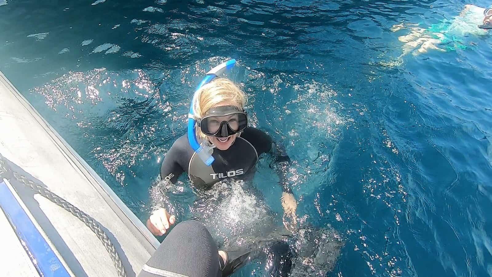 Tina snorkeling
