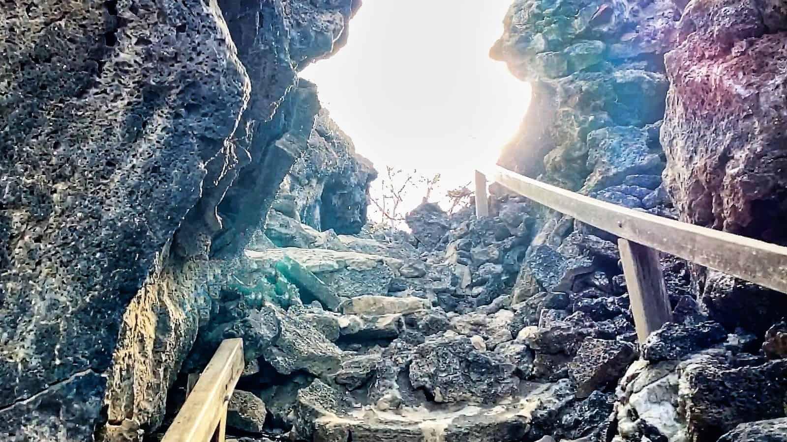 Galapagos Prince Phillip stairs